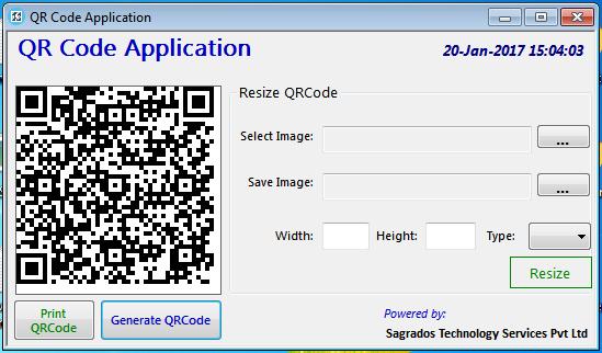 QR CODE APPLICATION - Sagrados Technology Services Pvt  Ltd